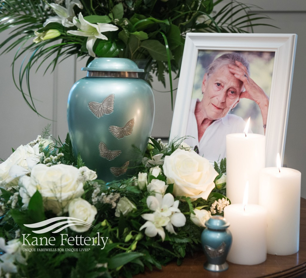 Detail of memorial service at Kane Fetterly