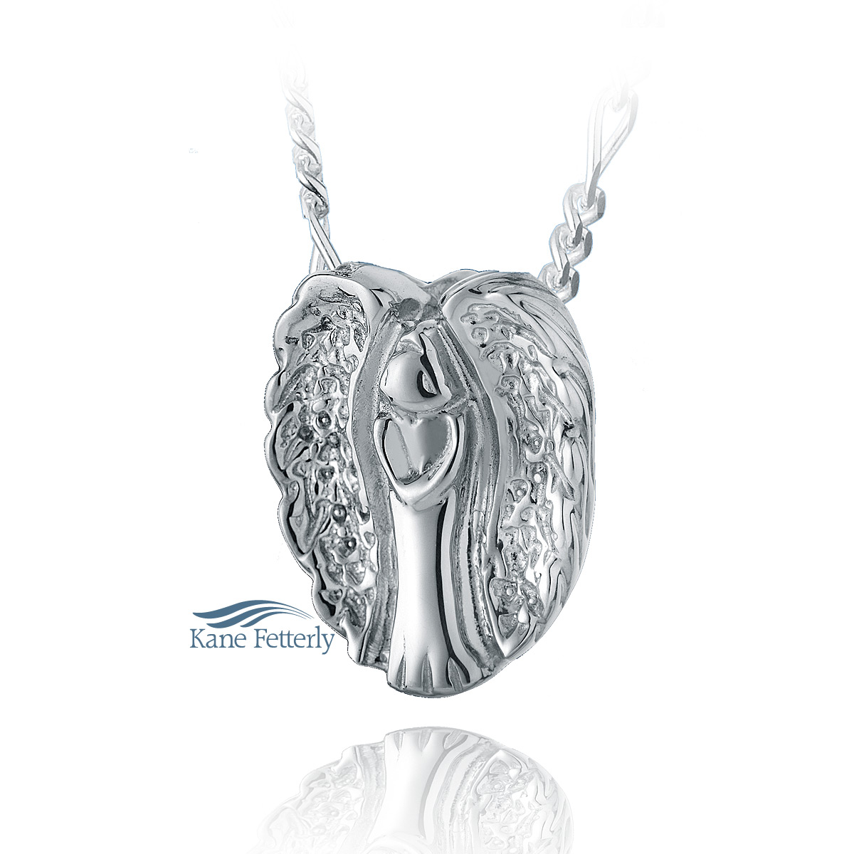 J0101 Angel pendant in sterling silver