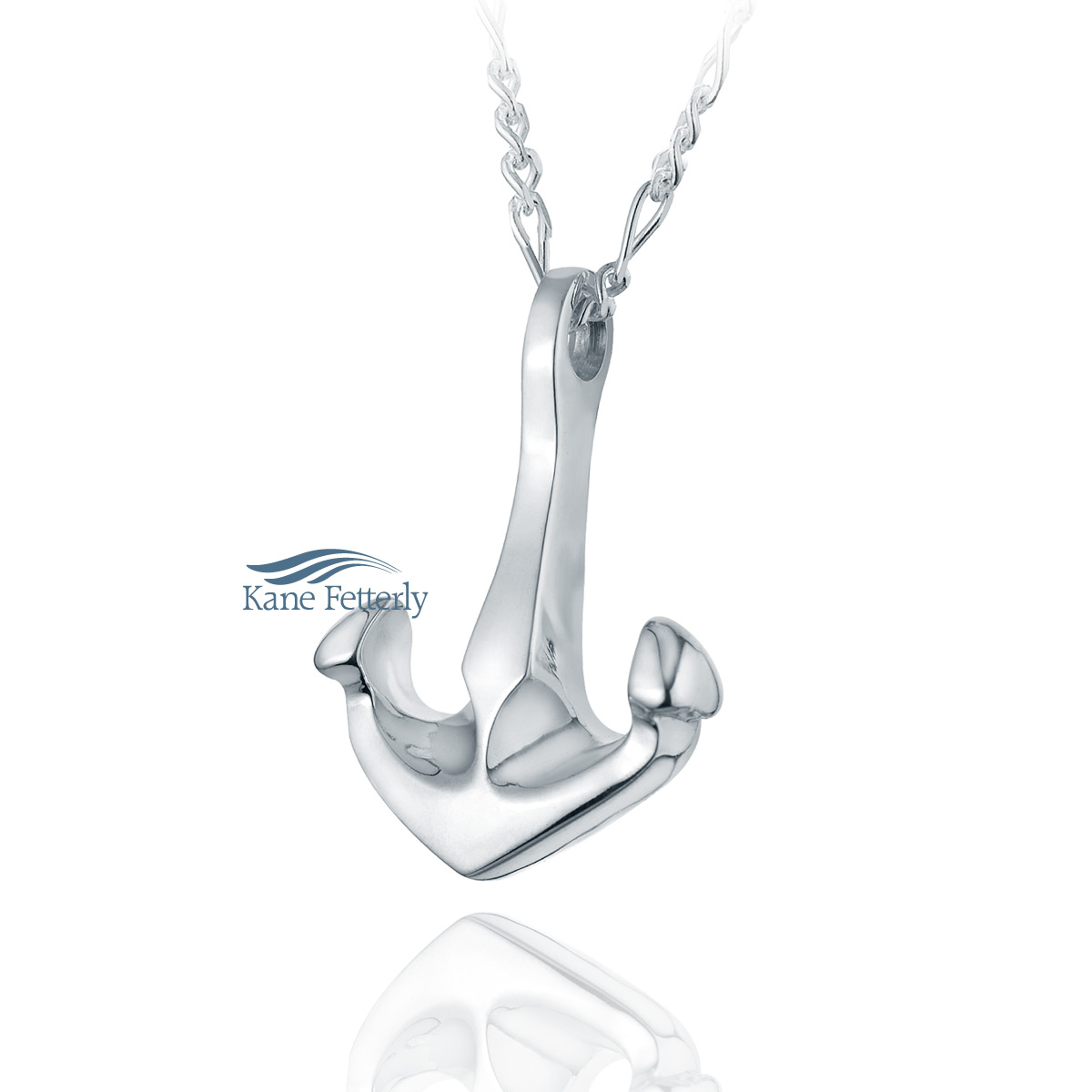 J0116 Bruce anchor pendant in sterling silver