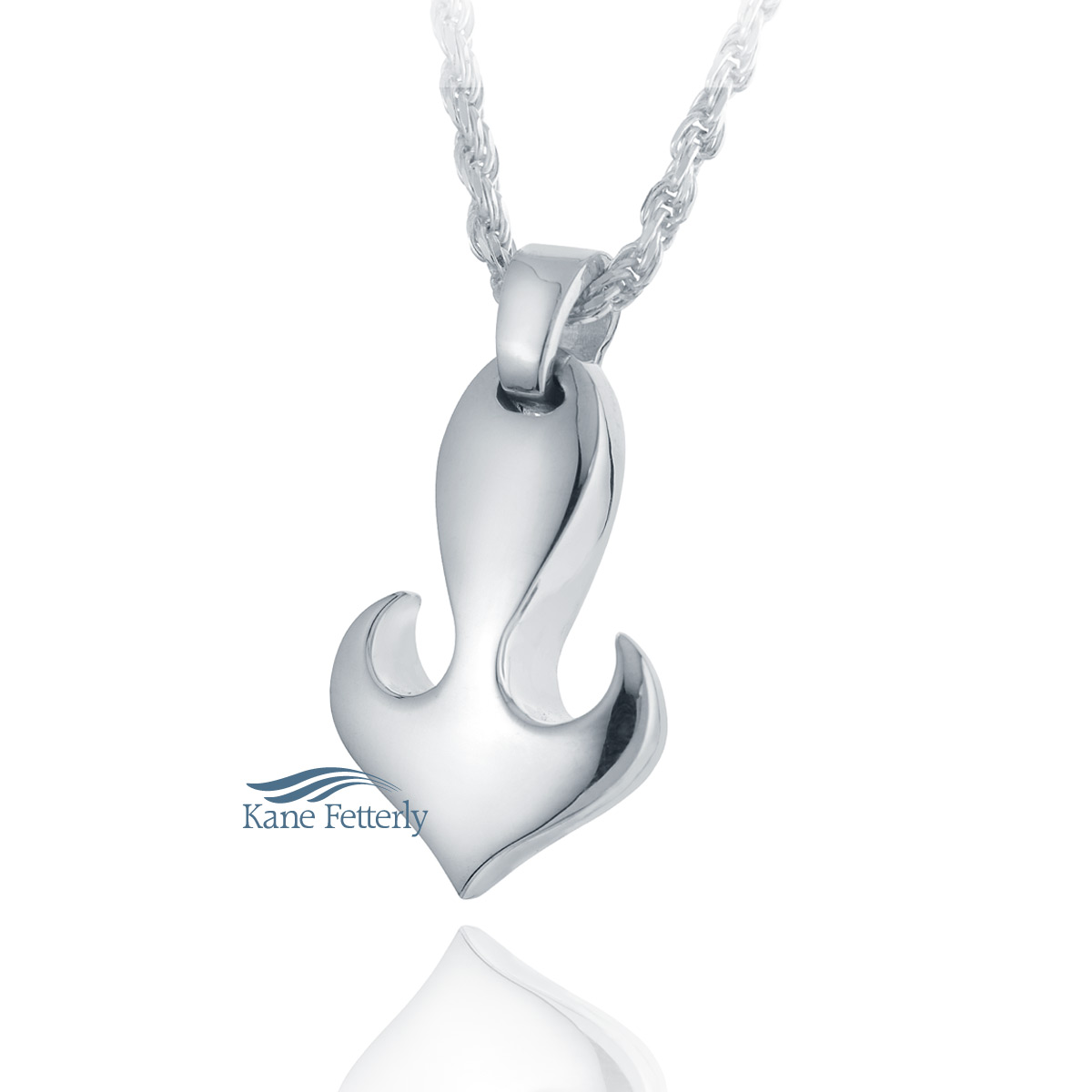 J0117 Heart anchor pendant in sterling silver