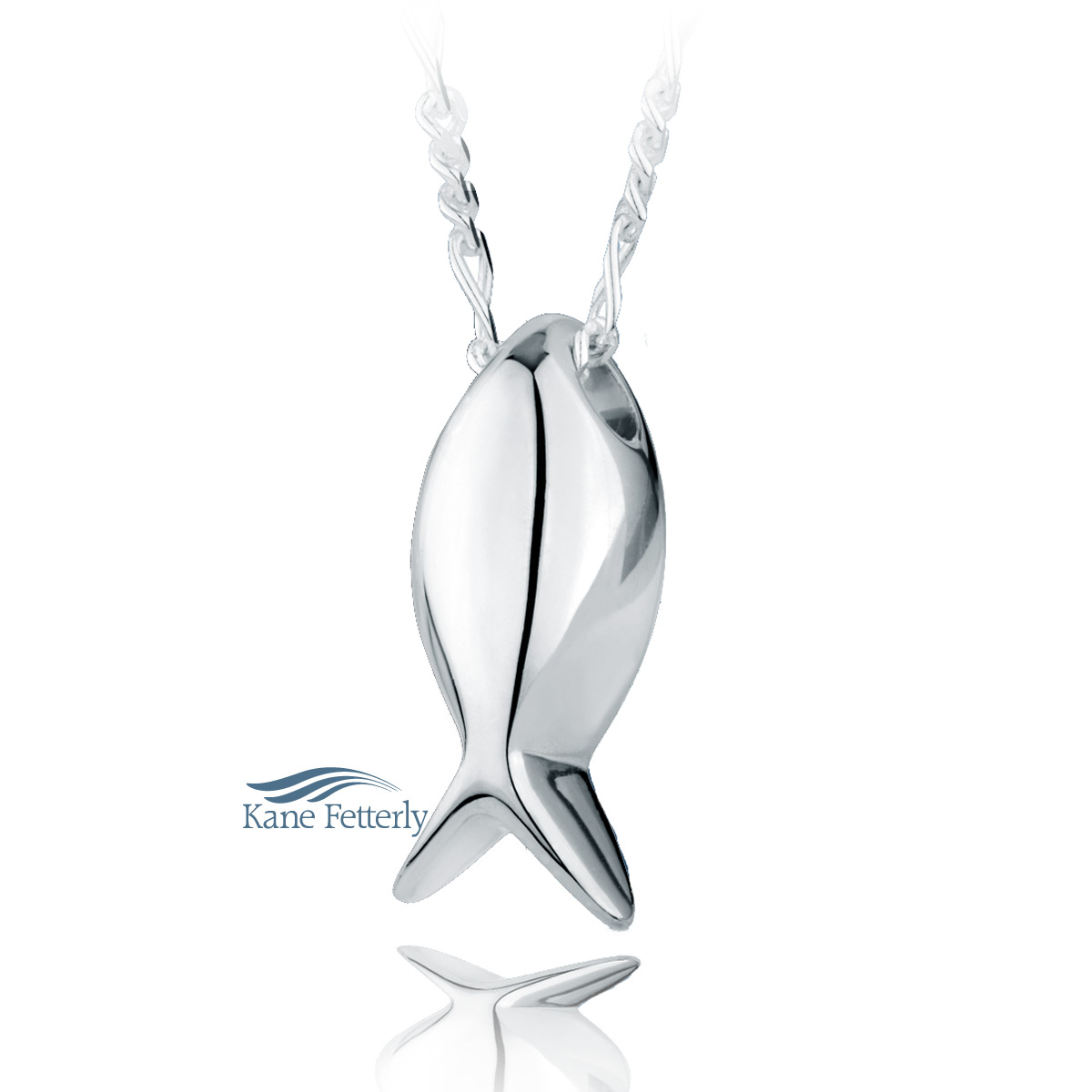 J0157 Fish pendant in sterling silver
