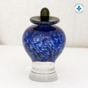 Hand-blown glass miniature urn