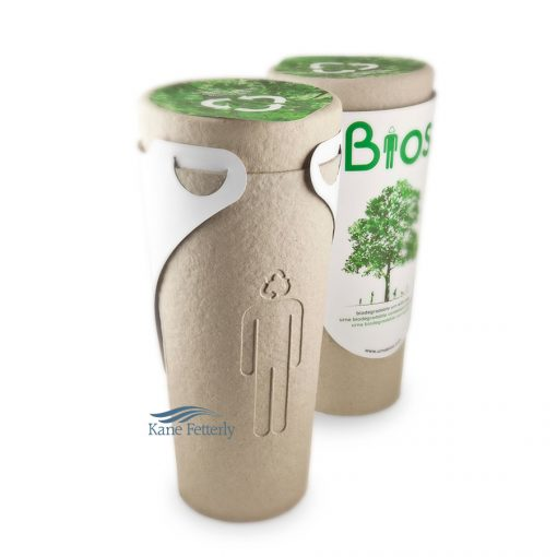 Urna Bios is a biodegradable urn, designed to turn the ashes of a person into a tree