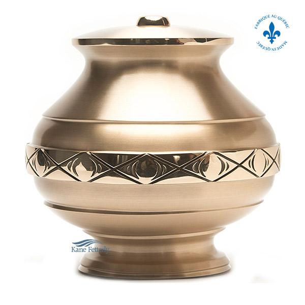 U2065 Solid bronze urn