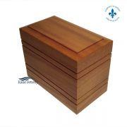 Solid mahogany urn