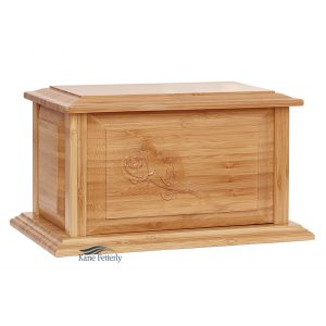 U4210 Bamboo urn with rose