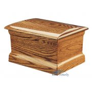 Solid oak urn