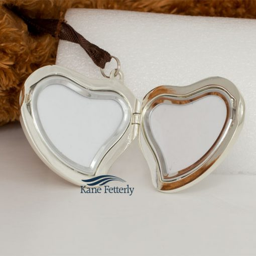 Teddy bear with heart locket