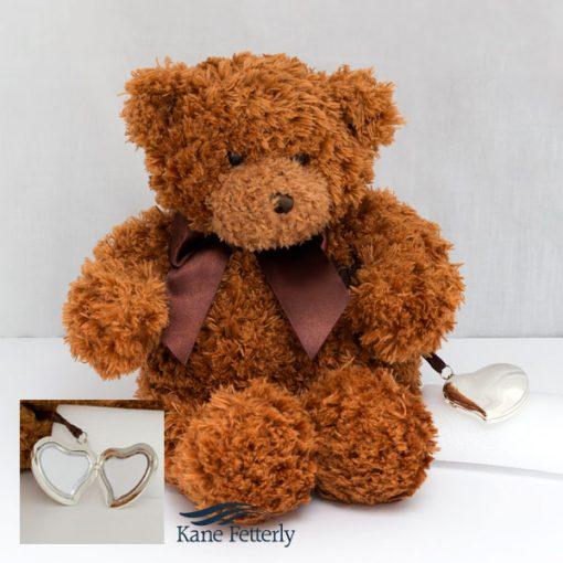Teddy bear with heart locket