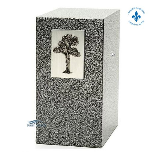 U8506 Zinc and aluminum urn with tree