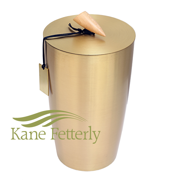 U8522 Brass-coated steel urn