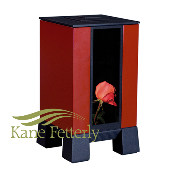 U8540 Red-painted aluminum urn