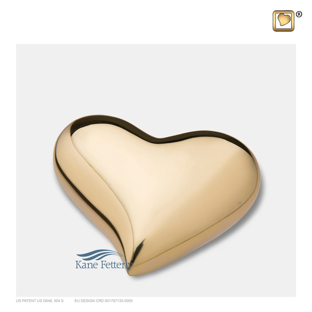 U8801K Brass heart miniature urn