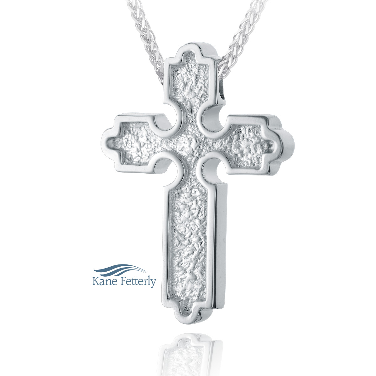J0165 Cross pendant in sterling silver