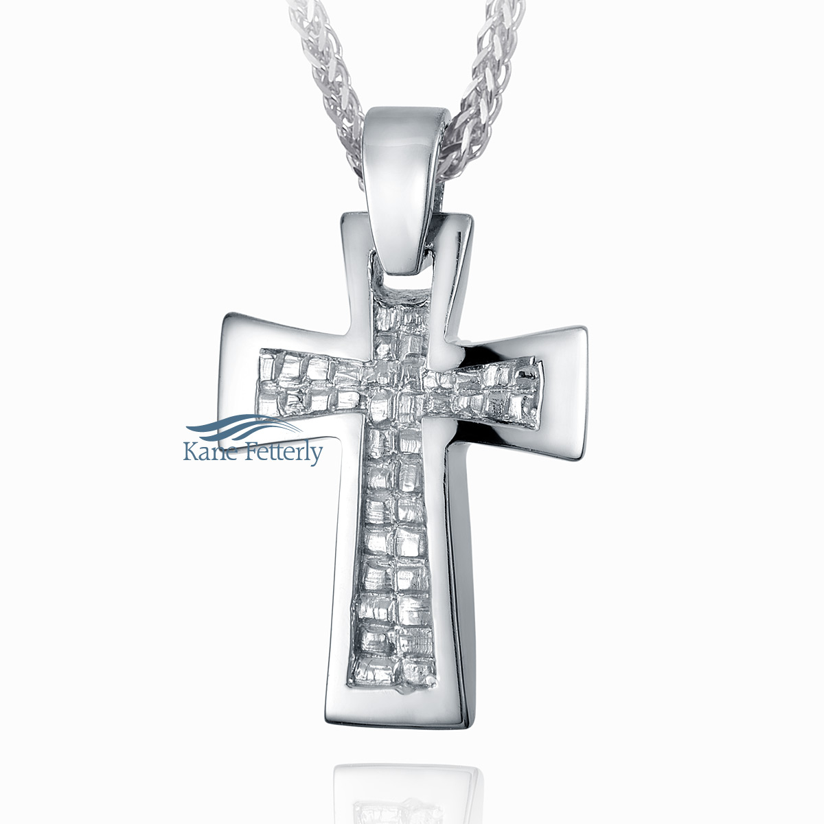 J0166 Cross pendant in sterling silver