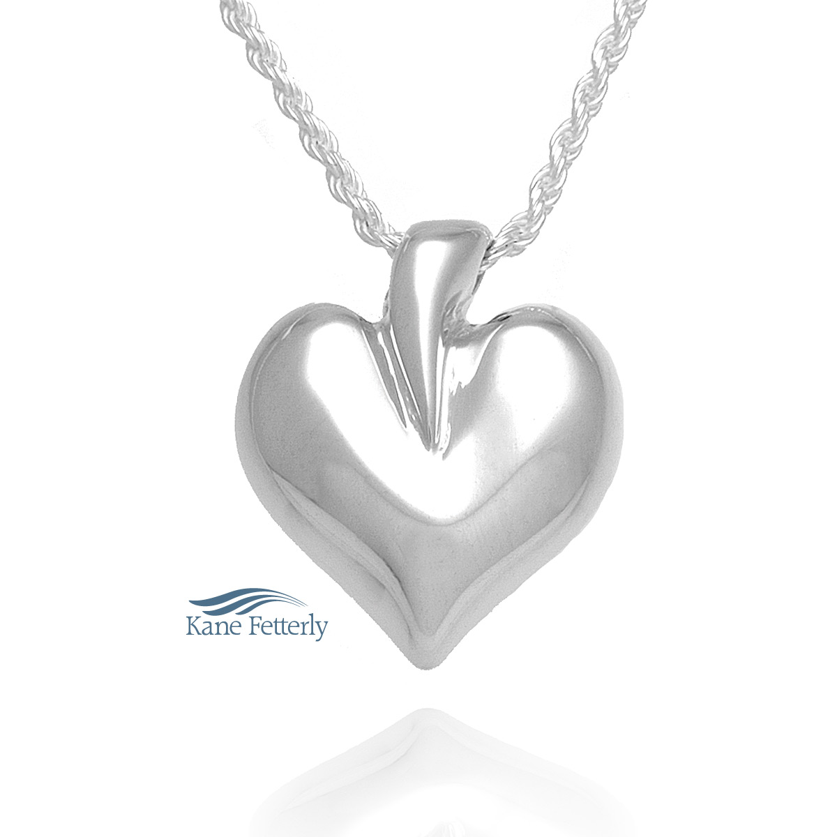 J0212 Heart pendant in sterling silver