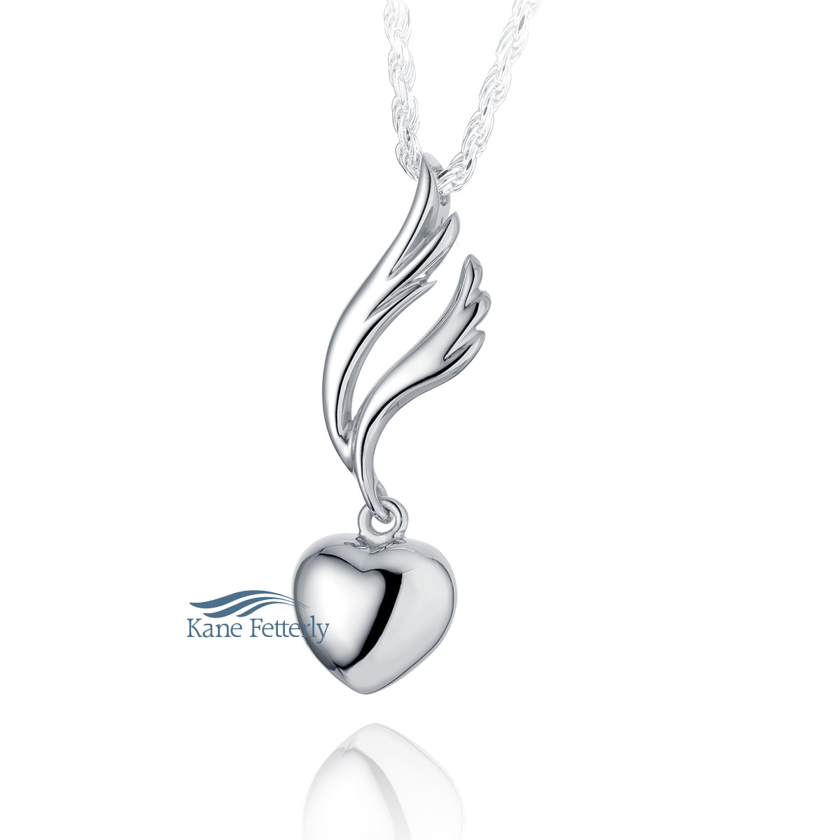 J0214 Heart pendant in sterling silver