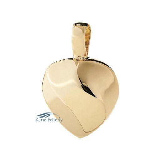 Pendentif pour cendres en coeur en or 14k