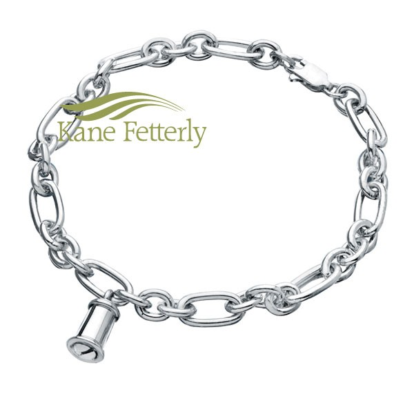J0071 Bracelet with cylinder shaped charm