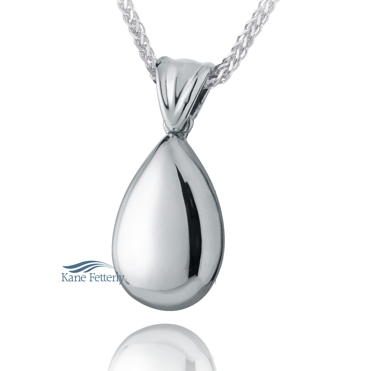 J0081 Teardrop pendant in sterling silver