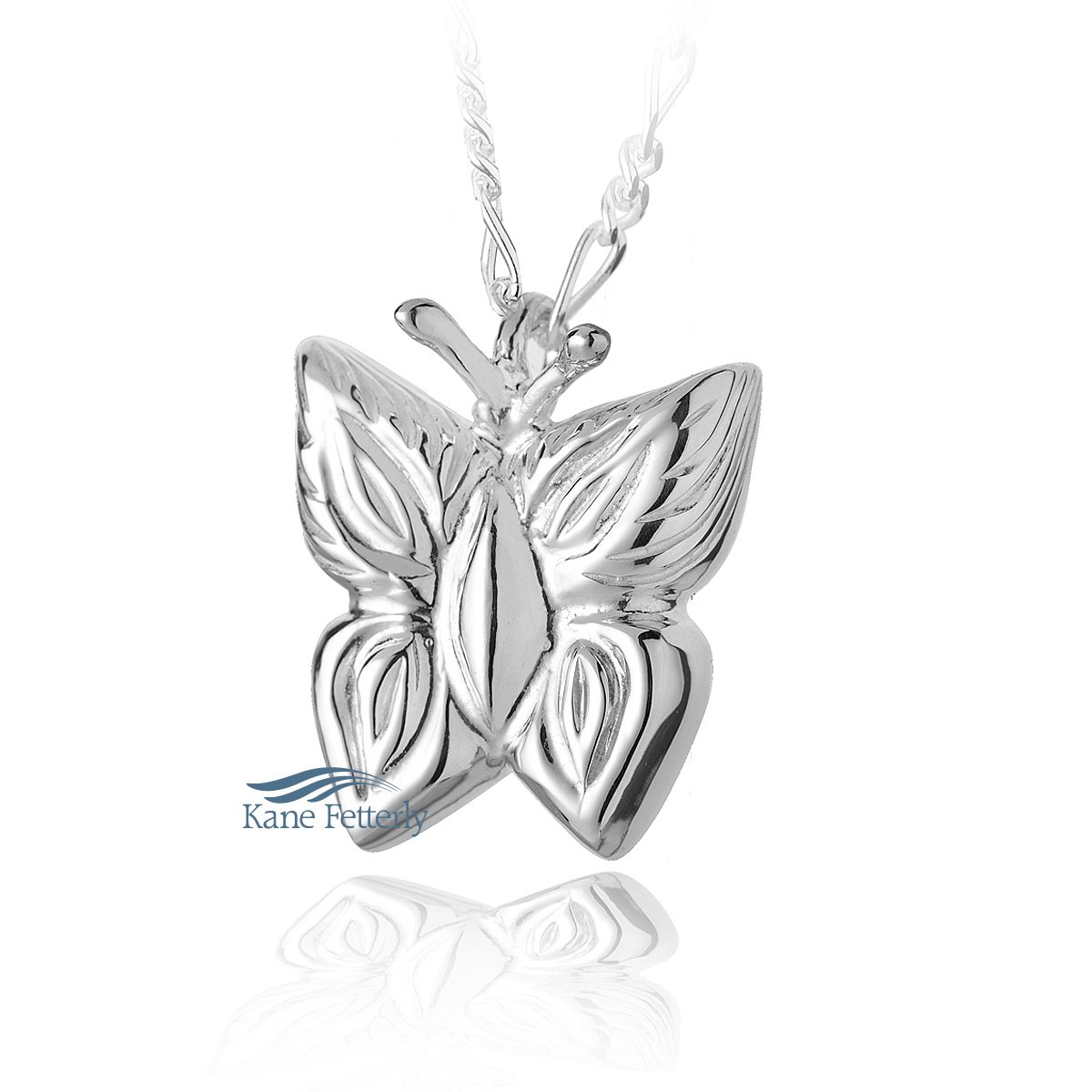 J0103  Butterfly pendant in sterling silver