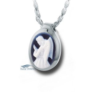 Cameo Angel - sterling silver pendant