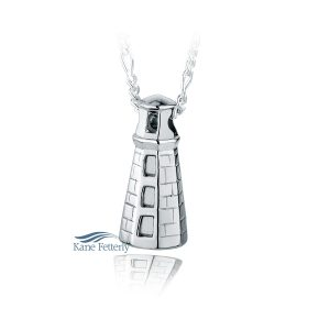 Maine Lighthouse - sterling silver pendant