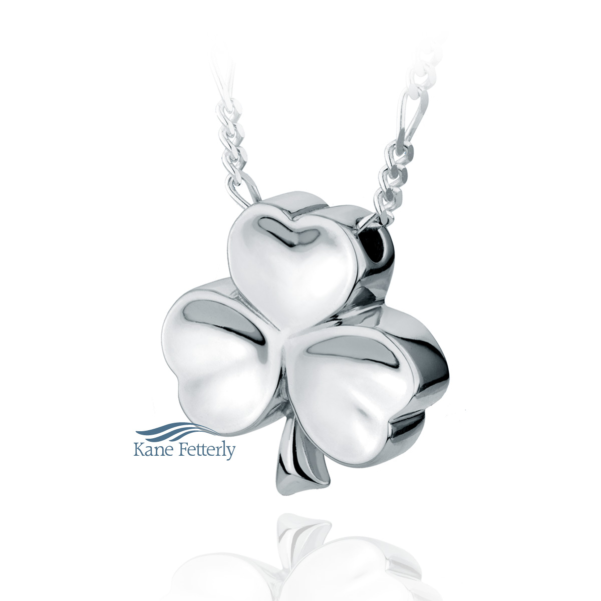 J0106 Shamrock pendant in sterling silver