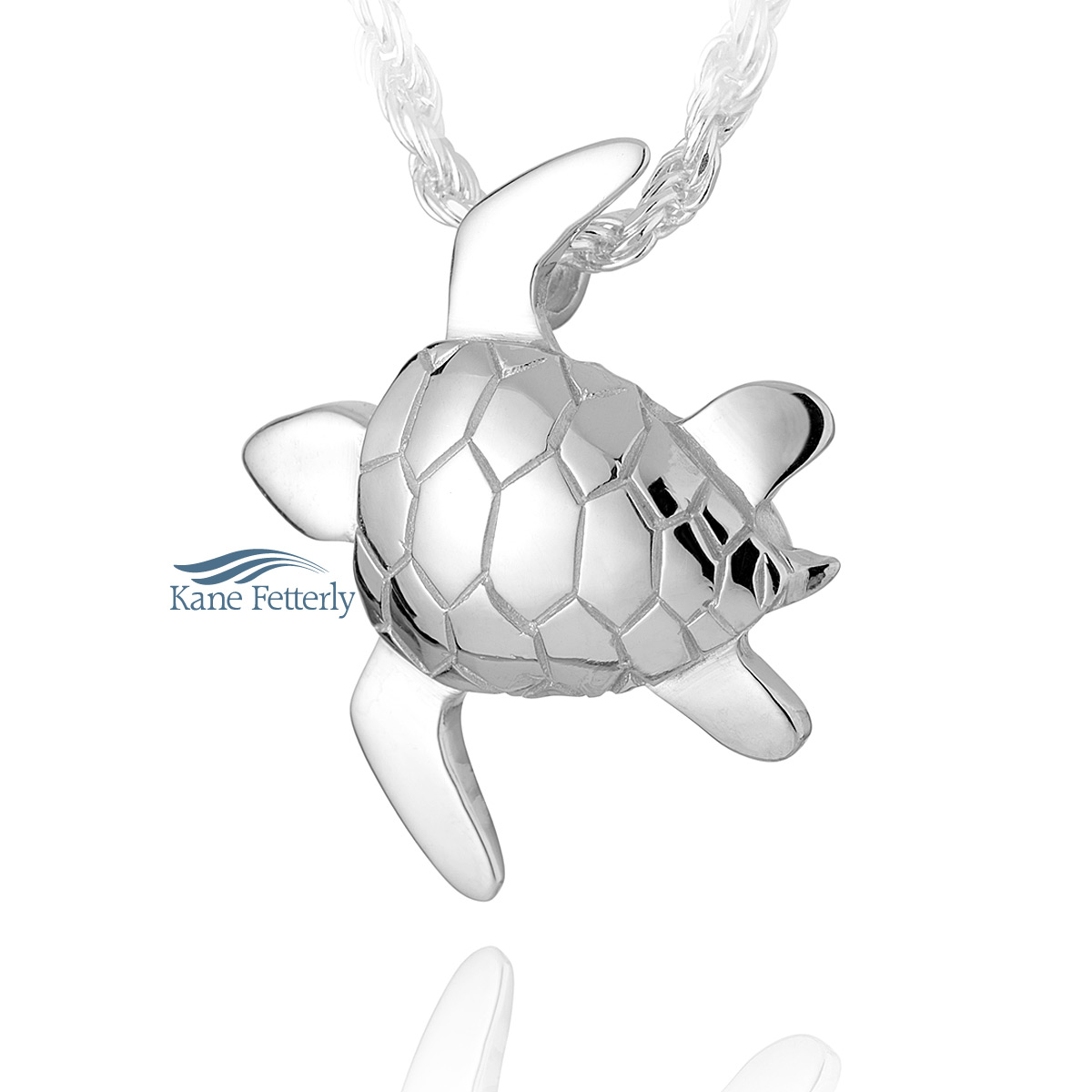 J0108 Sea turtle pendant in sterling silver