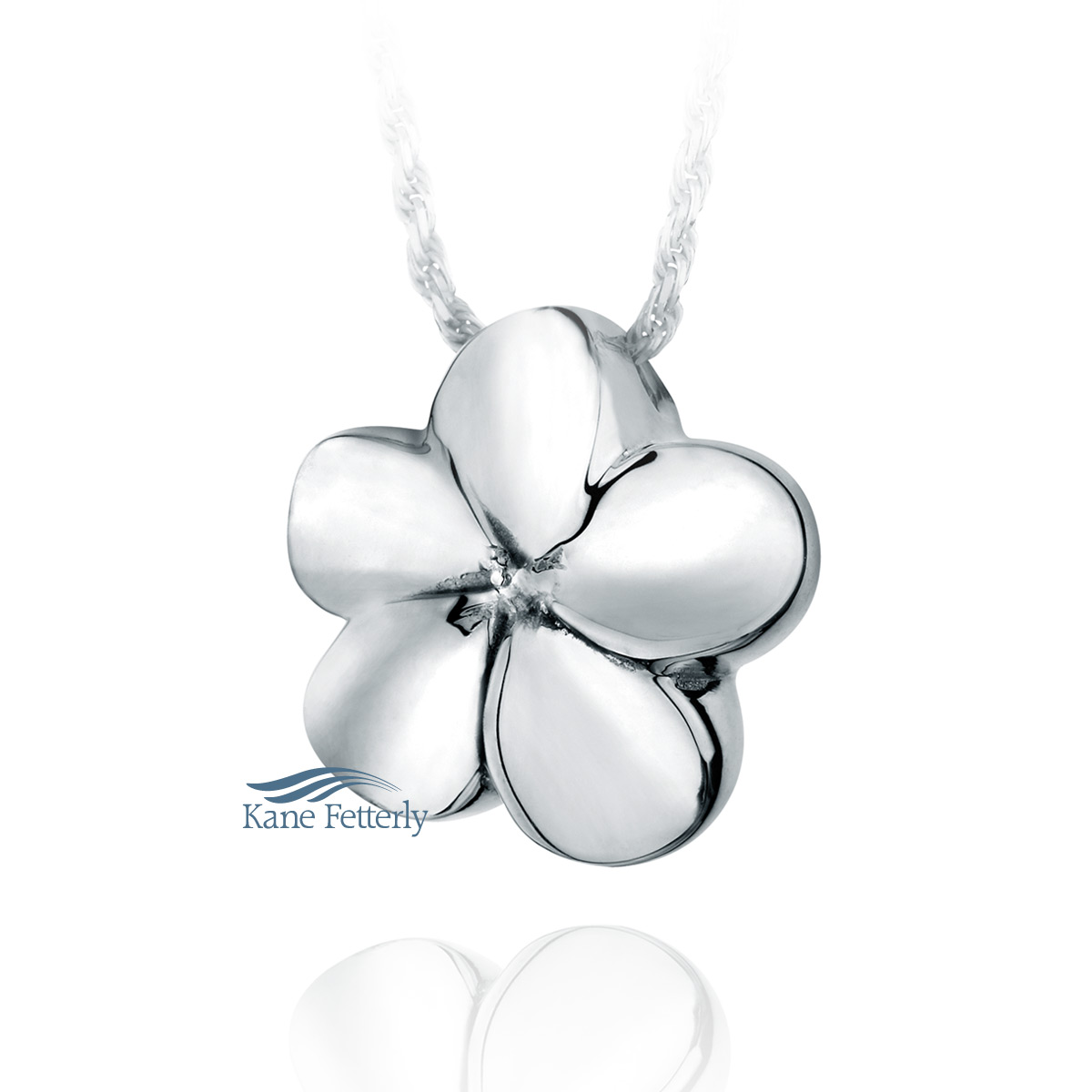 J0110 Flower pendant in sterling silver