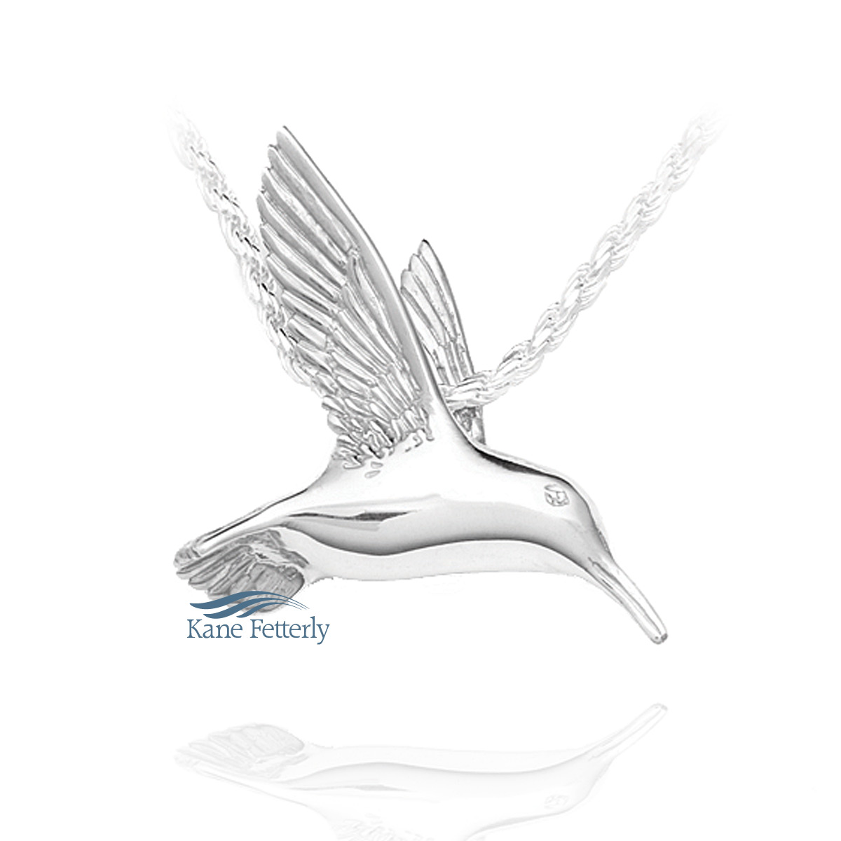 J0111 Hummingbird pendant in sterling silver