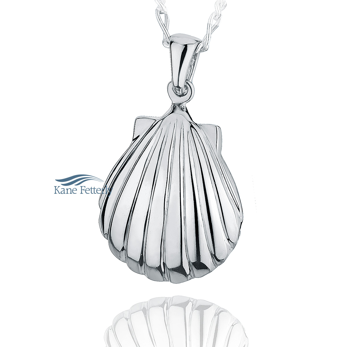 J0114 Seashell pendant in sterling silver