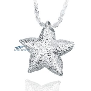 Starfish - sterling silver pendant