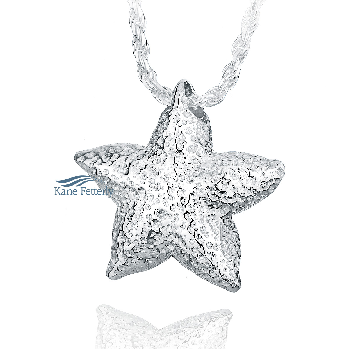 J0115 Starfish pendant in sterling silver