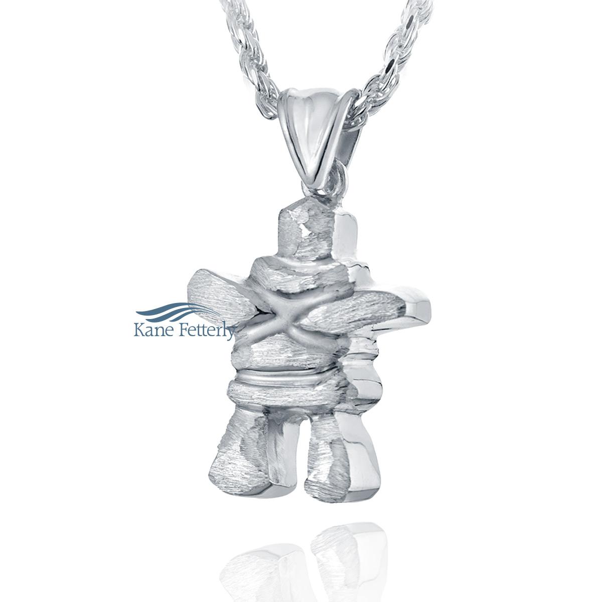 J0118 Inukshuk sterling silver pendant