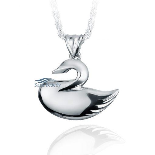 Swan - sterling silver pendant