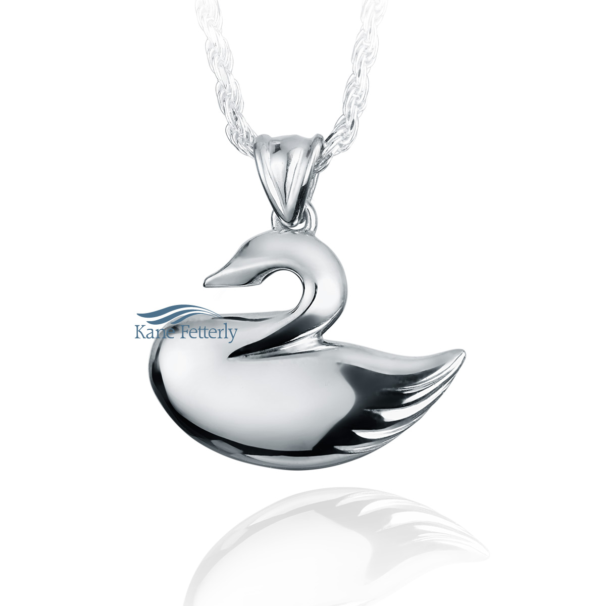 J0119 Swan sterling silver pendant