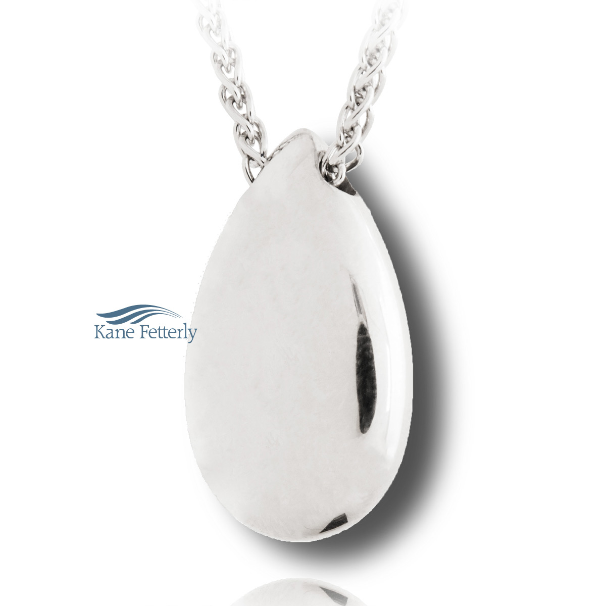J0124 Teardrop pendant in sterling silver