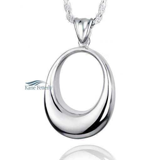 J0131 Oval - sterling silver pendant