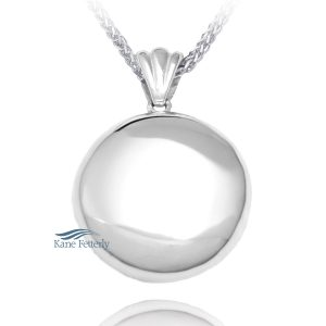 Round - sterling silver pendant