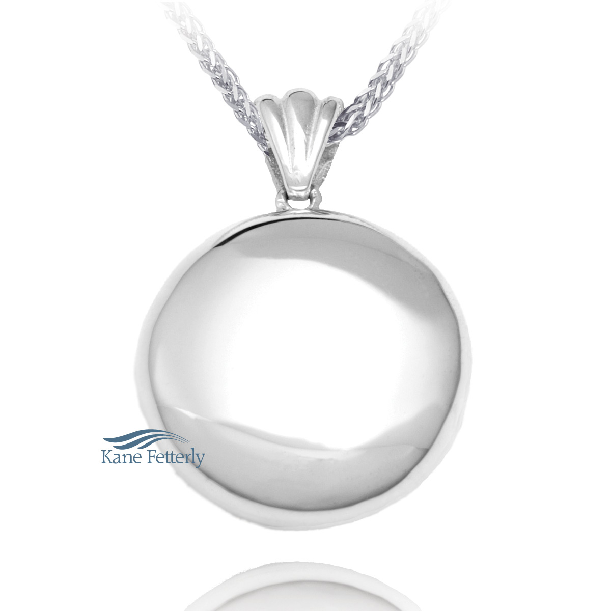 J0148 Round pendant in sterling silver