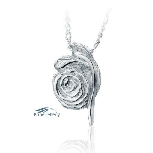 Rose cremation pendant