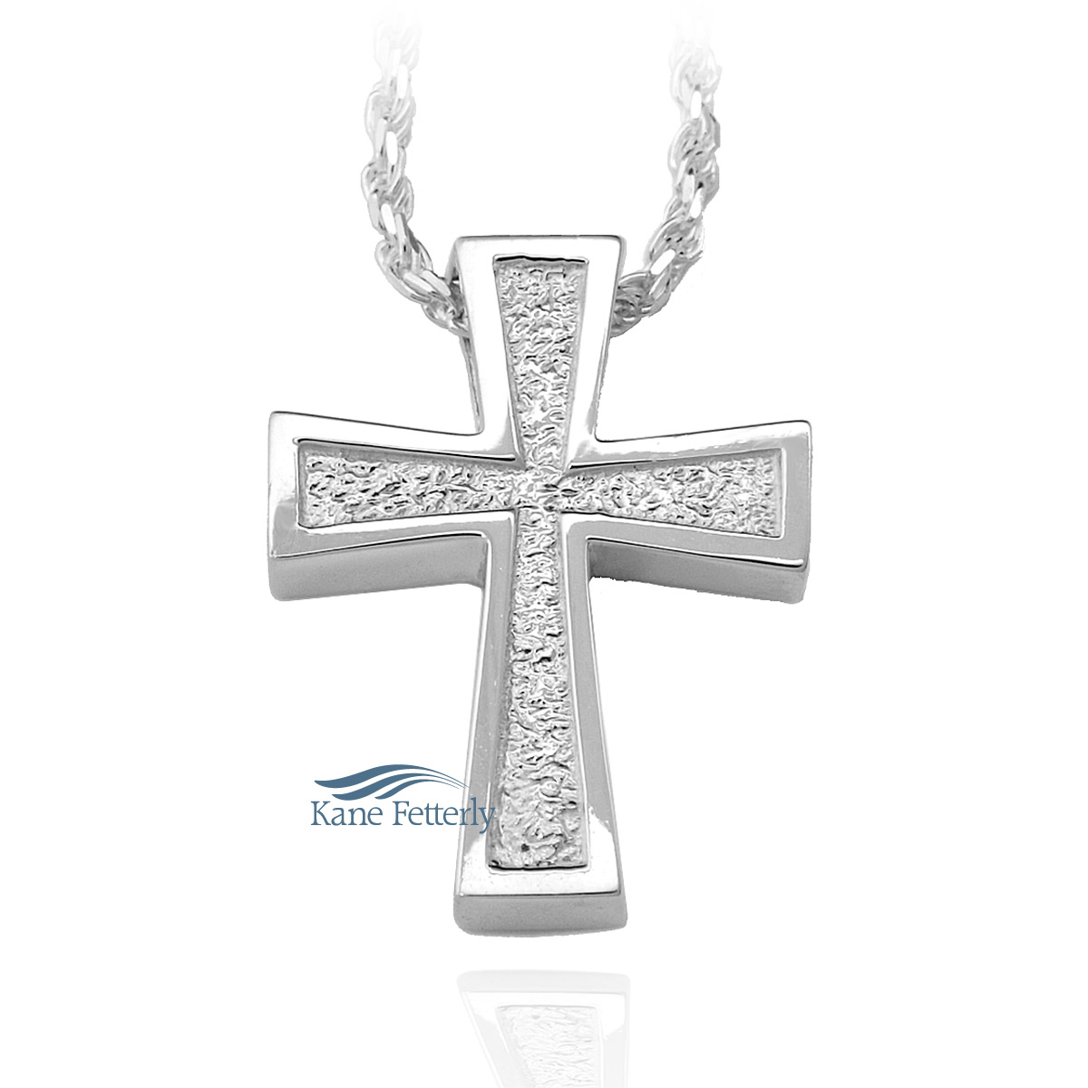 J0164 Cross pendant in sterling silver