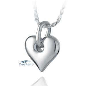 J0211 - Pendentif en coeur en argent sterling