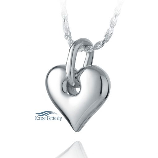 Heart cremation pendant