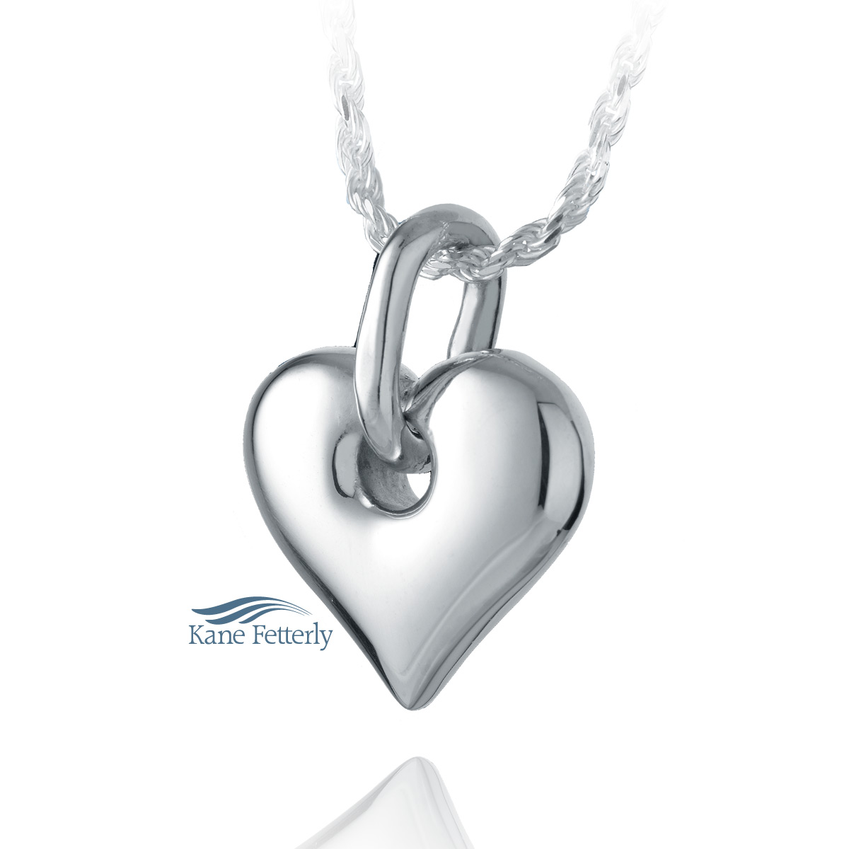 J0211 Heart pendant in sterling silver