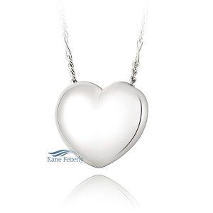 J0219 - Pendentif en coeur en argent sterling