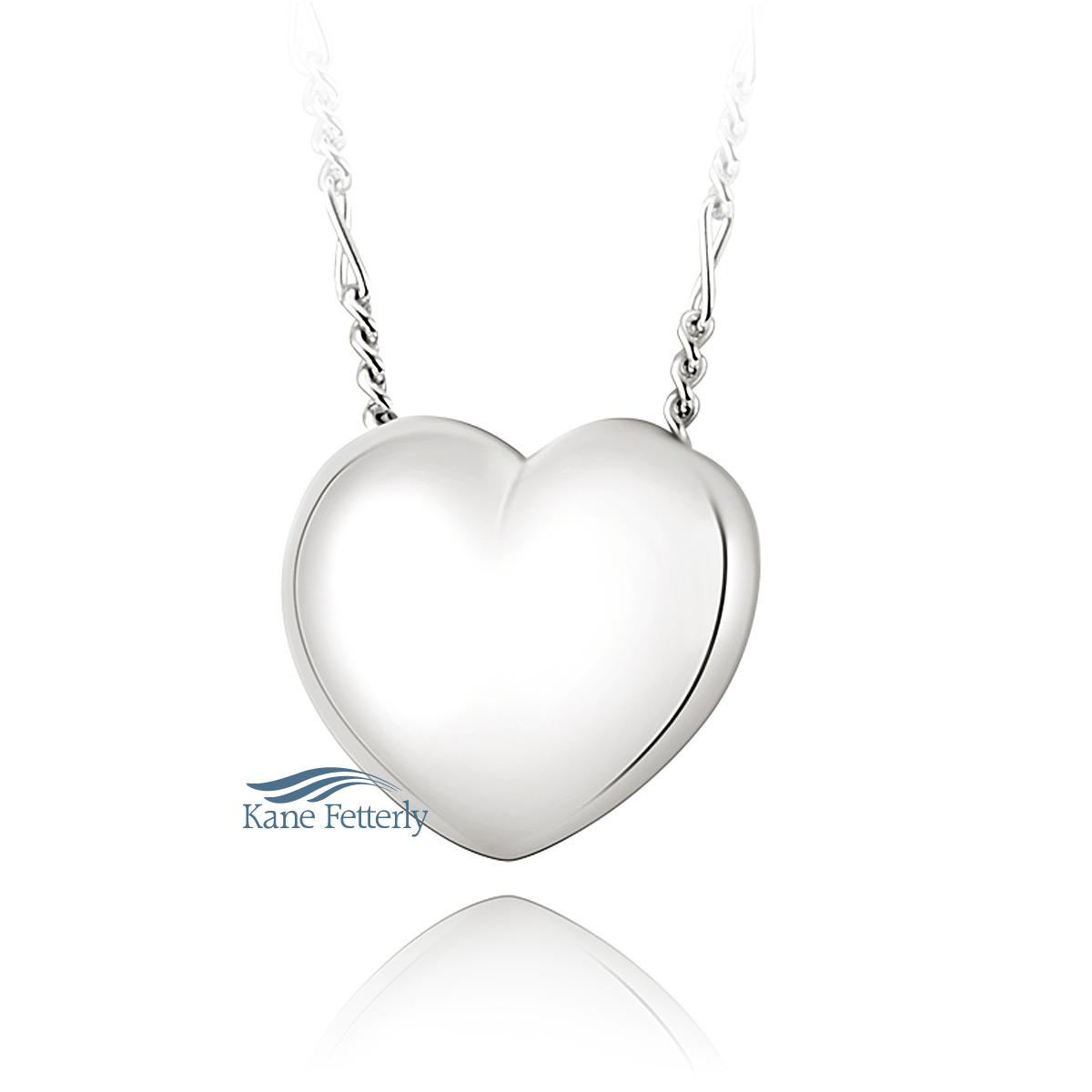 J0219 Heart pendant in sterling silver