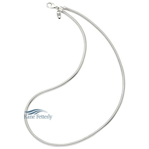 "Stainless steel necklace (20"" long)"