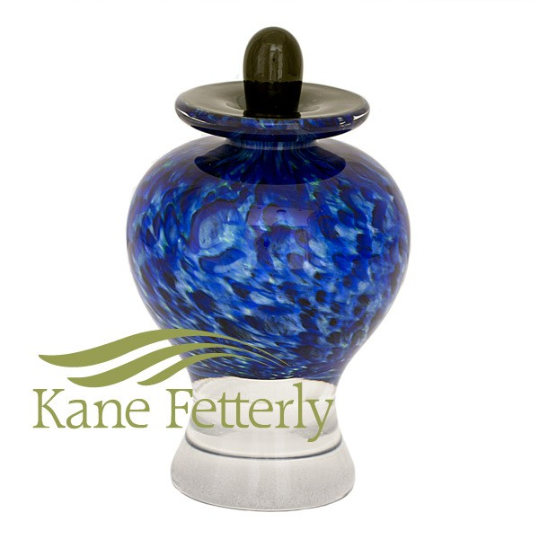 U018A Hand-blown glass miniature urn